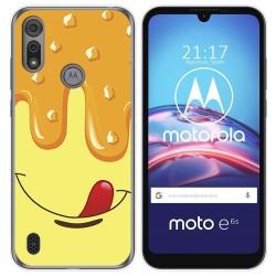 Funda Gel Tpu para Motorola Moto e6s diseño Helado Vainilla Dibujos