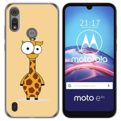 Funda Gel Tpu para Motorola Moto e6s diseño Jirafa Dibujos