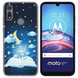 Funda Gel Tpu para Motorola Moto e6s diseño Libro Cuentos Dibujos