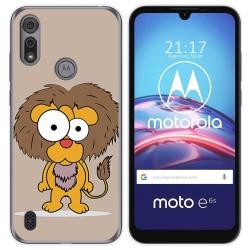 Funda Gel Tpu para Motorola Moto e6s diseño Leon Dibujos