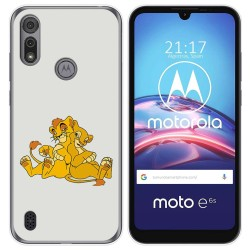 Funda Gel Tpu para Motorola Moto e6s diseño Leones Dibujos