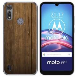 Funda Gel Tpu para Motorola Moto e6s diseño Madera Dibujos