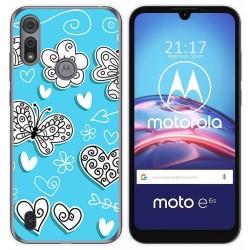 Funda Gel Tpu para Motorola Moto e6s diseño Mariposas Dibujos