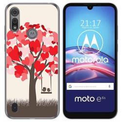 Funda Gel Tpu para Motorola Moto e6s diseño Pajaritos Dibujos