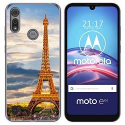 Funda Gel Tpu para Motorola Moto e6s diseño Paris Dibujos