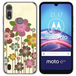 Funda Gel Tpu para Motorola Moto e6s diseño Primavera En Flor Dibujos