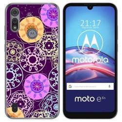 Funda Gel Tpu para Motorola Moto e6s diseño Radial Dibujos