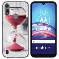 Funda Gel Tpu para Motorola Moto e6s diseño Reloj Dibujos