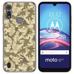 Funda Gel Tpu para Motorola Moto e6s diseño Sand Camuflaje Dibujos