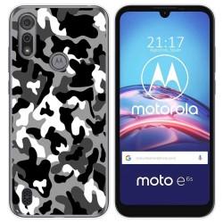 Funda Gel Tpu para Motorola Moto e6s diseño Snow Camuflaje Dibujos