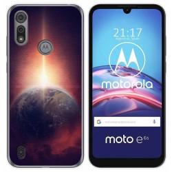 Funda Gel Tpu para Motorola Moto e6s diseño Tierra Dibujos