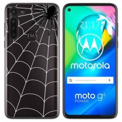 Funda Gel Transparente para Motorola Moto G8 Power diseño Araña Dibujos
