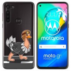 Funda Gel Transparente para Motorola Moto G8 Power diseño Avestruz Dibujos