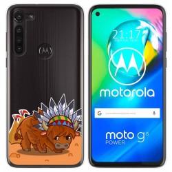 Funda Gel Transparente para Motorola Moto G8 Power diseño Bufalo Dibujos