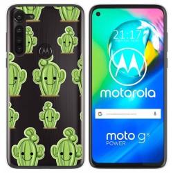 Funda Gel Transparente para Motorola Moto G8 Power diseño Cactus Dibujos