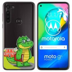 Funda Gel Transparente para Motorola Moto G8 Power diseño Coco Dibujos