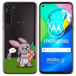 Funda Gel Transparente para Motorola Moto G8 Power diseño Conejo Dibujos