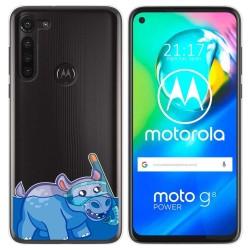 Funda Gel Transparente para Motorola Moto G8 Power diseño Hipo Dibujos