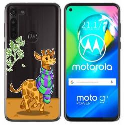 Funda Gel Transparente para Motorola Moto G8 Power diseño Jirafa Dibujos