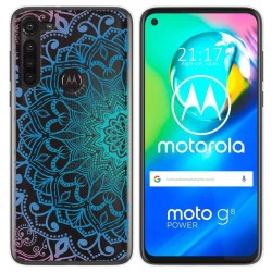 Funda Gel Transparente para Motorola Moto G8 Power diseño Mandala Dibujos