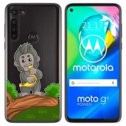Funda Gel Transparente para Motorola Moto G8 Power diseño Mono Dibujos