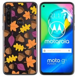 Funda Gel Transparente para Motorola Moto G8 Power diseño Otoño Dibujos