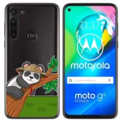 Funda Gel Transparente para Motorola Moto G8 Power diseño Panda Dibujos