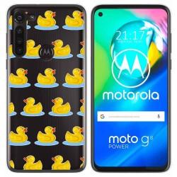 Funda Gel Transparente para Motorola Moto G8 Power diseño Pato Dibujos