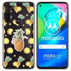 Funda Gel Transparente para Motorola Moto G8 Power diseño Piña Dibujos