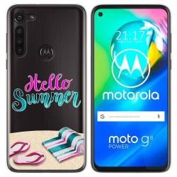 Funda Gel Transparente para Motorola Moto G8 Power diseño Summer Dibujos