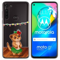 Funda Gel Transparente para Motorola Moto G8 Power diseño Suricata Dibujos
