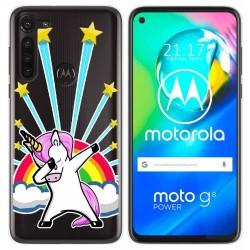 Funda Gel Transparente para Motorola Moto G8 Power diseño Unicornio Dibujos