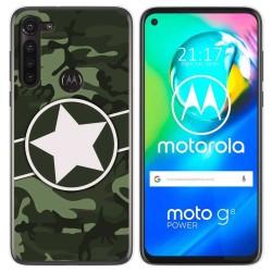 Funda Gel Tpu para Motorola Moto G8 Power diseño Camuflaje 01 Dibujos