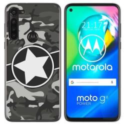 Funda Gel Tpu para Motorola Moto G8 Power diseño Camuflaje 02 Dibujos