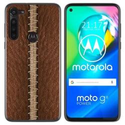 Funda Gel Tpu para Motorola Moto G8 Power diseño Cuero 01 Dibujos