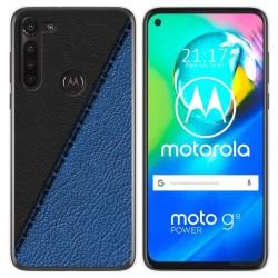 Funda Gel Tpu para Motorola Moto G8 Power diseño Cuero 02 Dibujos
