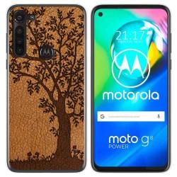 Funda Gel Tpu para Motorola Moto G8 Power diseño Cuero 03 Dibujos
