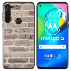 Funda Gel Tpu para Motorola Moto G8 Power diseño Ladrillo 01 Dibujos