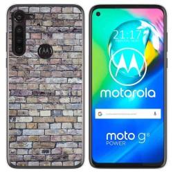 Funda Gel Tpu para Motorola Moto G8 Power diseño Ladrillo 02 Dibujos