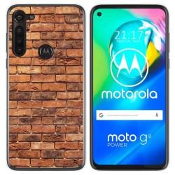 Funda Gel Tpu para Motorola Moto G8 Power diseño Ladrillo 04 Dibujos