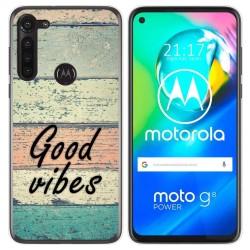 Funda Gel Tpu para Motorola Moto G8 Power diseño Madera 01 Dibujos