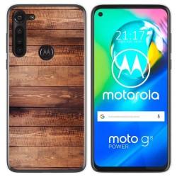 Funda Gel Tpu para Motorola Moto G8 Power diseño Madera 02 Dibujos