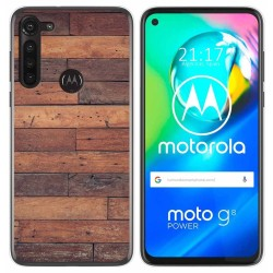 Funda Gel Tpu para Motorola Moto G8 Power diseño Madera 03 Dibujos
