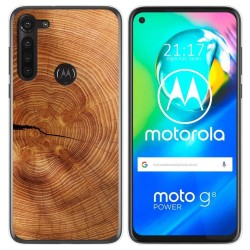 Funda Gel Tpu para Motorola Moto G8 Power diseño Madera 04 Dibujos