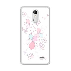 Funda Gel Tpu para Leagoo M5 Plus Diseño Flores Minimal Dibujos