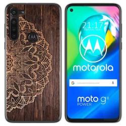 Funda Gel Tpu para Motorola Moto G8 Power diseño Madera 06 Dibujos
