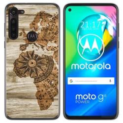 Funda Gel Tpu para Motorola Moto G8 Power diseño Madera 07 Dibujos