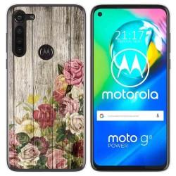Funda Gel Tpu para Motorola Moto G8 Power diseño Madera 08 Dibujos