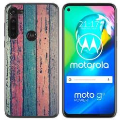 Funda Gel Tpu para Motorola Moto G8 Power diseño Madera 10 Dibujos