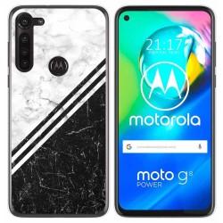 Funda Gel Tpu para Motorola Moto G8 Power diseño Mármol 01 Dibujos